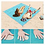 Wild Tribe Sand Free Beach Mat,Outdoor Sand Proof Beach Blanket Waterproof Picnic Mat for Travel Camping Hiking 79''X79''