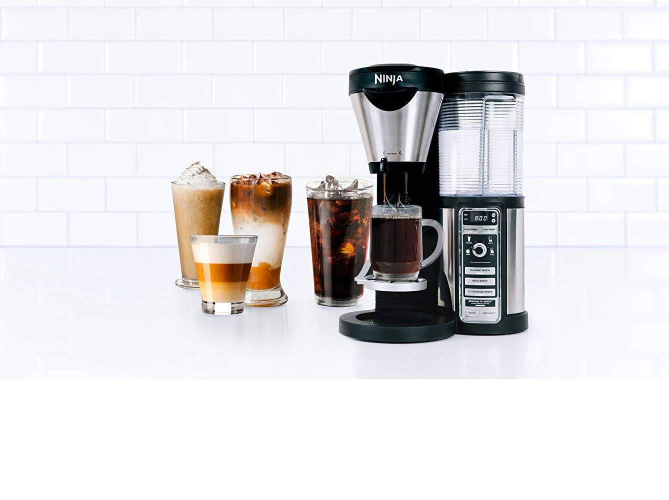 Amazon.com: Ninja Coffee Bar con jarra de vidrio y auto-iq ...