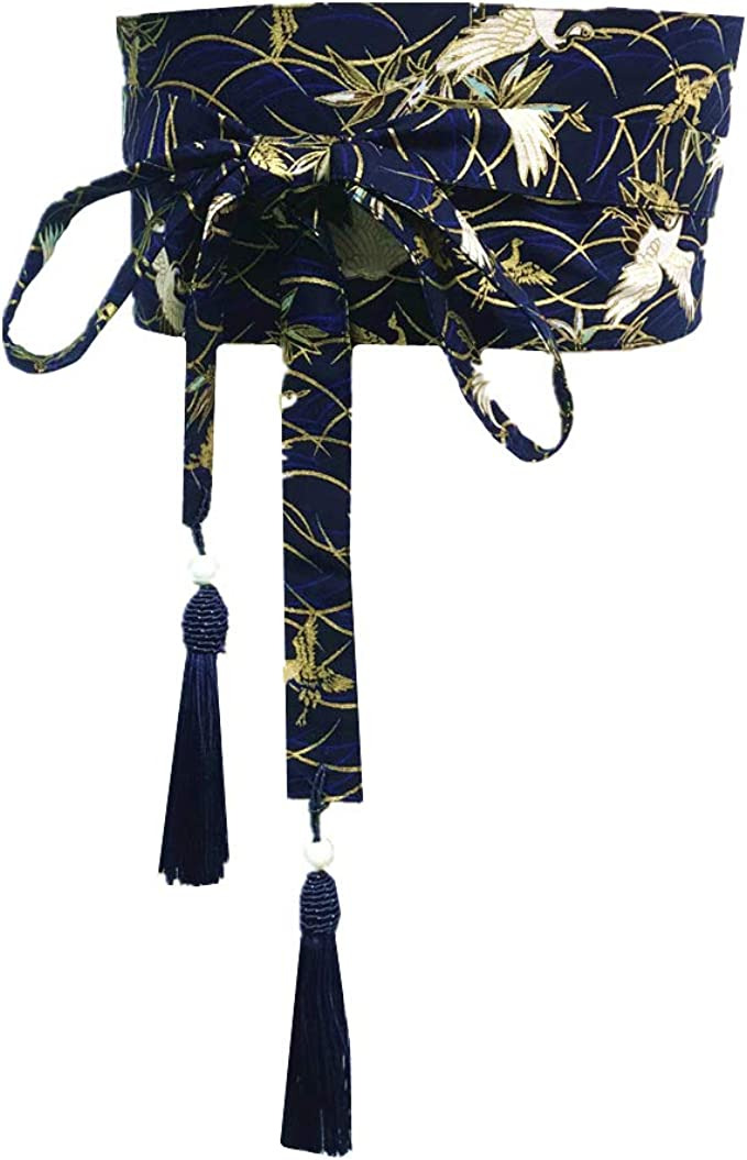Fancy Pumpkin Vintage Giapponese Yukata Kimono Robe Obi Cintura Harajuku Cinturino-D11