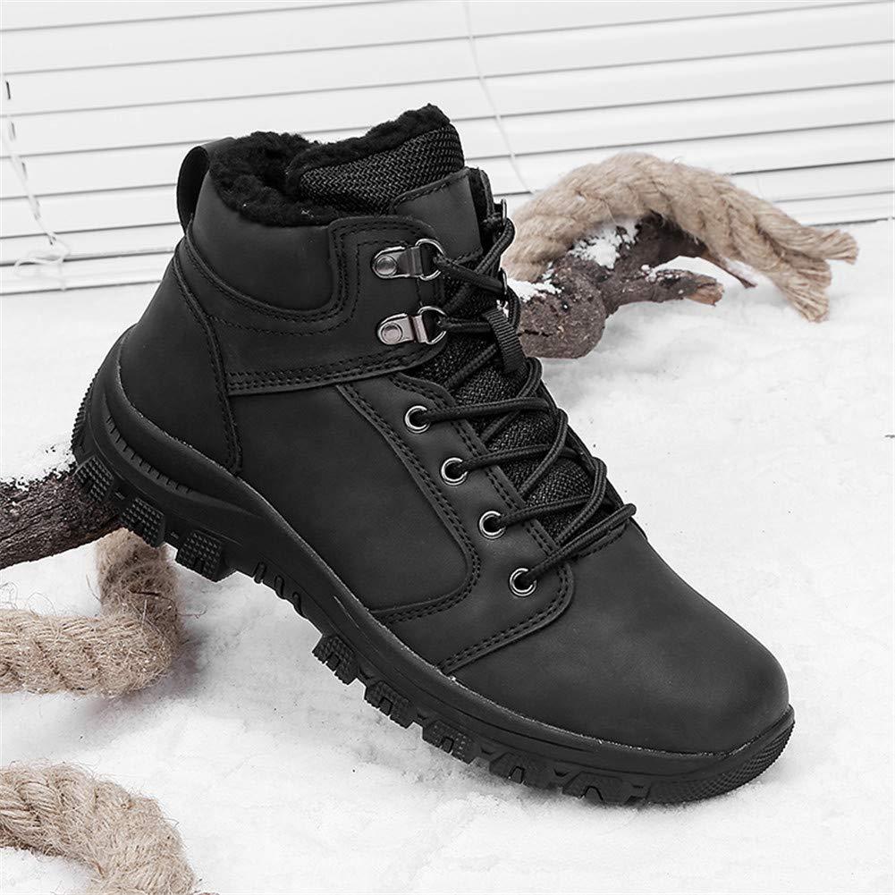 bcb9354ce4cf1 Leader Show Men's Outdoor Walking Snow Boots Waterproof Fur Lined Warm  Sneaker Shoes