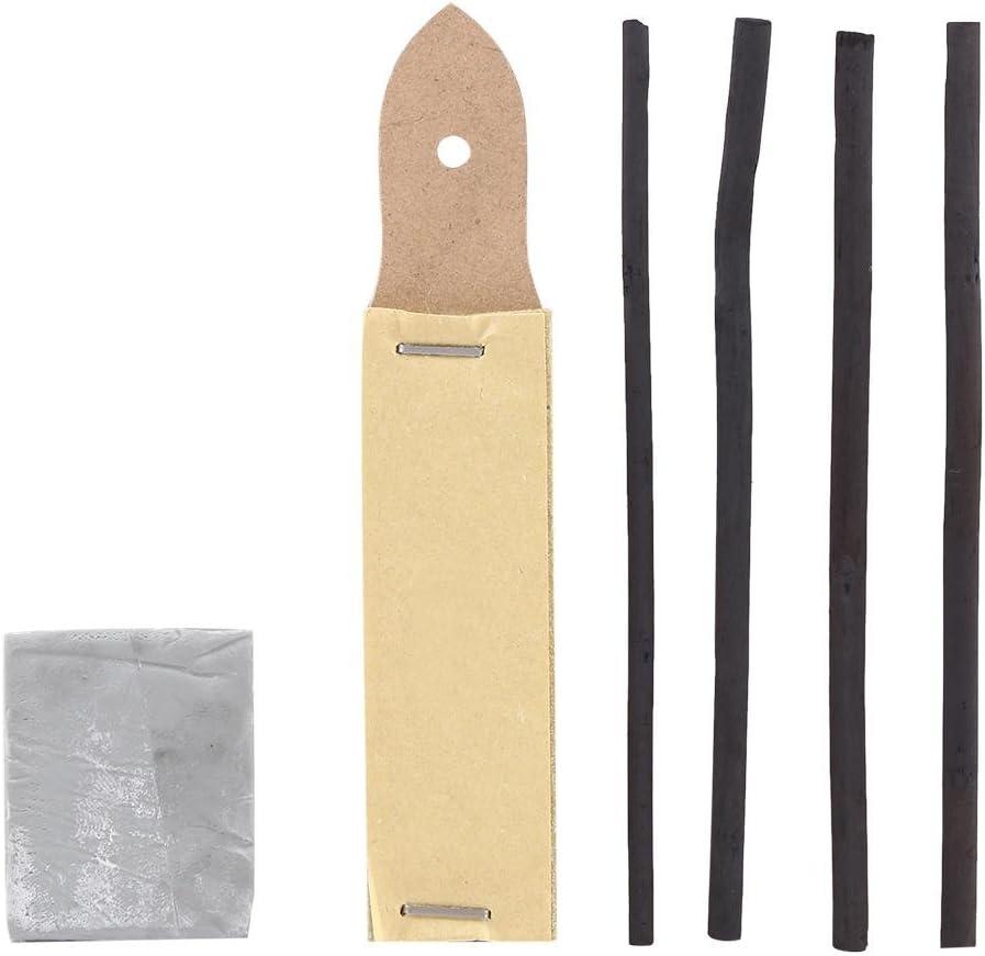 Skizzier-Zeichen-Set Bleistifte zum Zeichnen von Graphit und Skizzier-Set Professionelle K/ünstlerbedarfsartikel mit Pastellstiften Skizzierstifte Willow Sticks 48-tlg