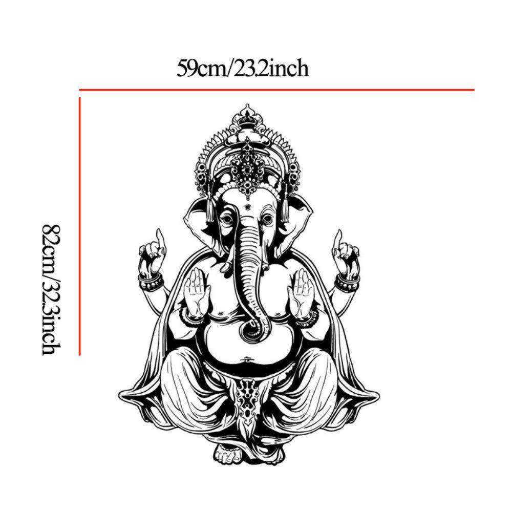 Ganesha Elefante Buda Mandala Yoga Pegatinas de Pared Extraíble ...