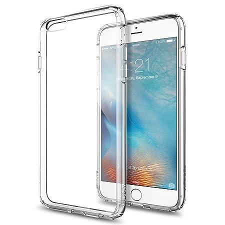 Spigen Ultra Hybrid Kompatibel mit iPhone 6S Plus Hülle, Durchsichtige Rückschale und TPU-Bumper Schutzhülle Crystal Clear (S