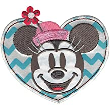 Wrights Disney Mickey Mouse Minnie in Heart Iron-On Applique