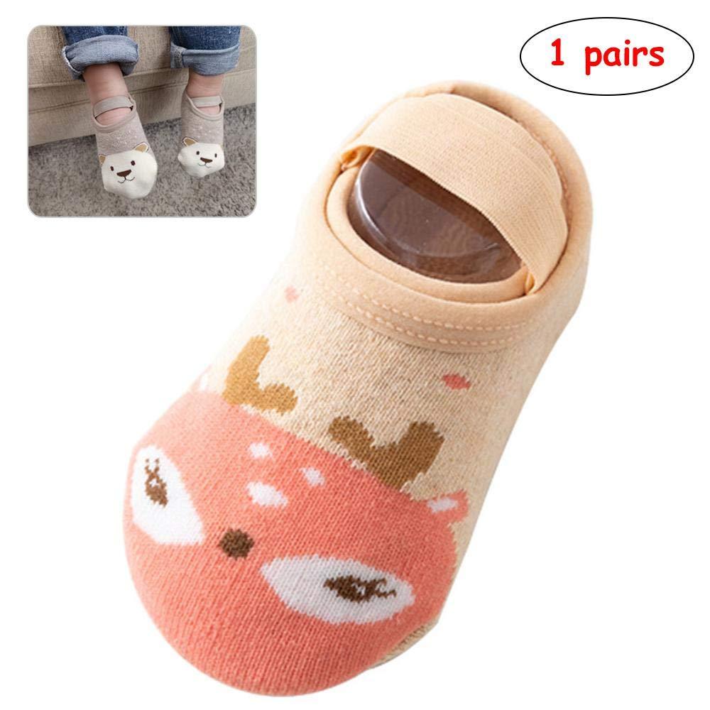 1 Pair Baby Boy Socks, 100% Cotton Anti