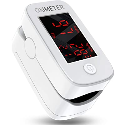 Oxímetro de Pulso,Oxímetro de Pulso Digital con Pantalla LED,Monitor de Oxígeno Portátil,Monitor de Frecuencia Cardíaca Para Adultos,Niños,Personas Mayores,con Baterías