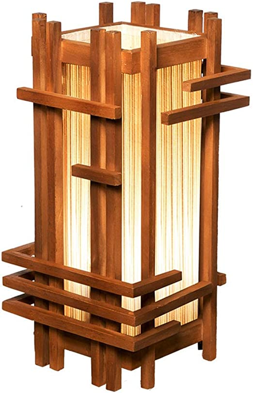 Lampe De Chambre De Style Japonais En Bois Massif Décoration ...