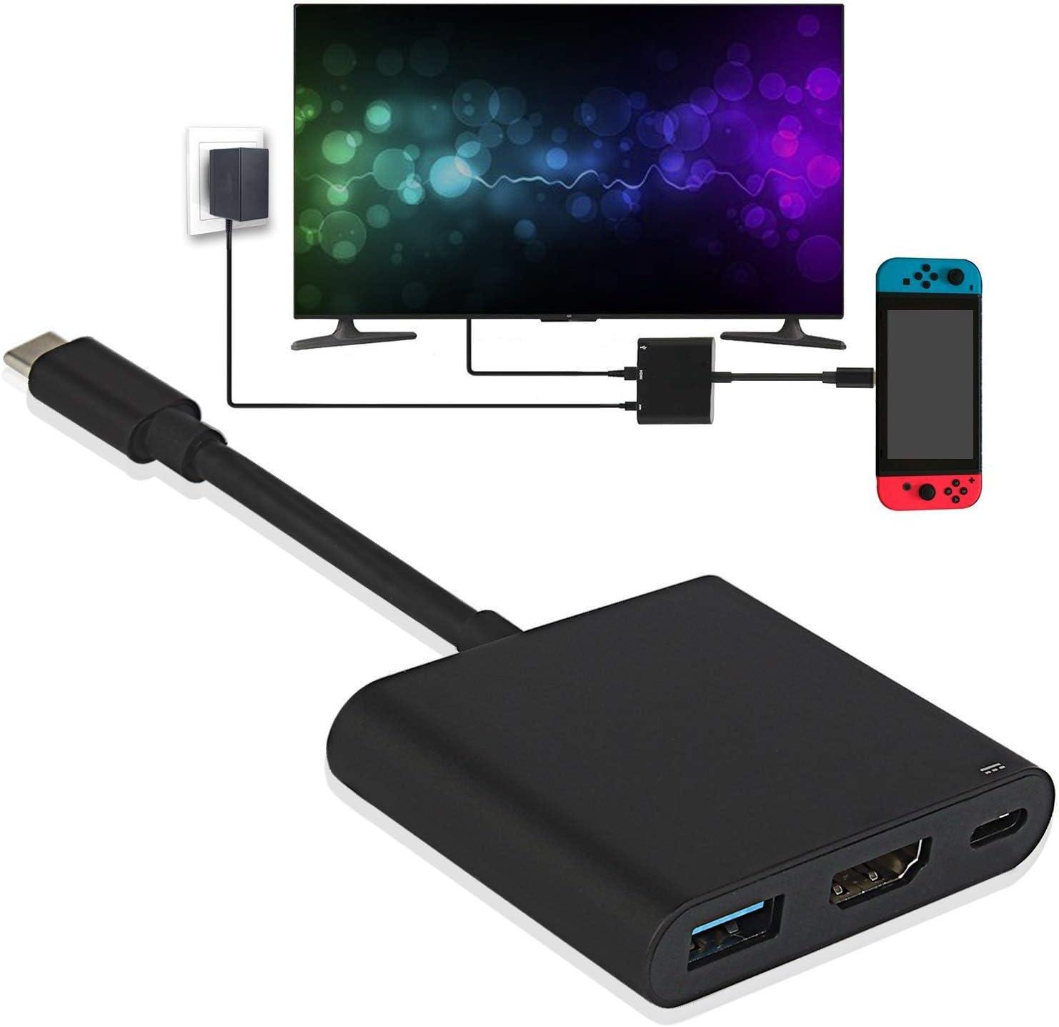 Nintendo Switch HDMI tipo C Hub adaptador, convertidor USB C Hub HDMI 1080P Cable para Nintendo Switch, MacBook Pro 2017, Samsung Galaxy S8 Plus, Google Pixel: Amazon.es: Electrónica