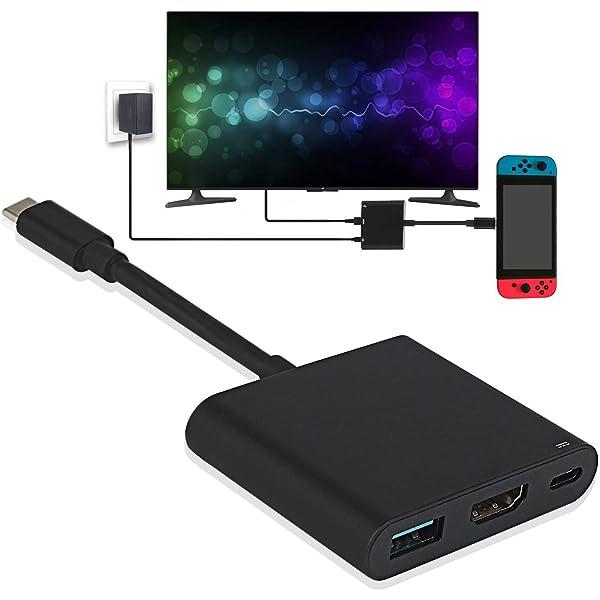 TUTUO Nintendo Switch Dock USB Tipo C a HDMI Adaptador USB Hub ...