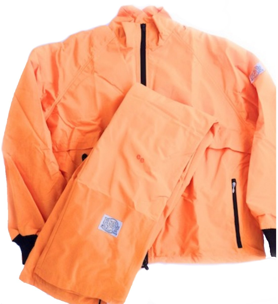 Moss Brown & Co. Bright Colors, 2-Layer Moss-TEX Waterproof, Breathable, Big & Tall Track Suits. Marigold Orange - 4X by Moss Brown & Co.