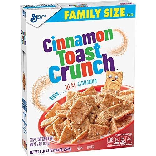 Cinnamon Toast Crunch Breakfast Cereal, Family Size, 19.3 Oz - Cereal Crunch Cinnamon Toast