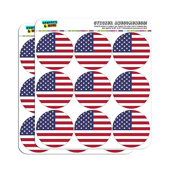 The-United-States-National-Country-Flag-2-Scrapbooking-Crafting-Stickers