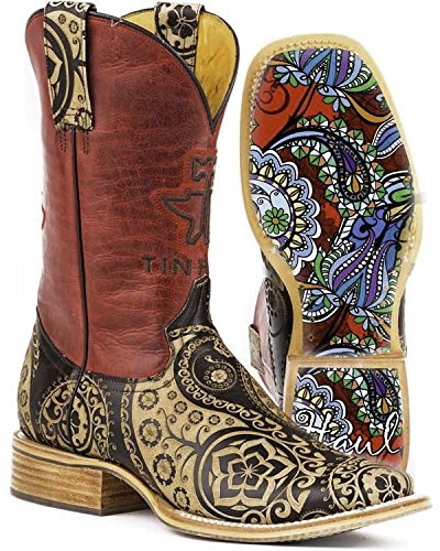 Chaussures De Transport Détain Femmes Paisley Rocks Western Boot Tan