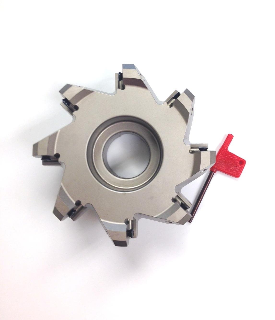 HHIP 2068-5000 5'' x 1-1/2'' Bore 45 Degree Octagon 8 Insert Index able Face Mill, 2-1/2'' OAL