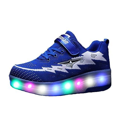 Led Baskets Enfant Double Bingmax Lumineuse Chaussures Lumière Roue qzVSUMpG