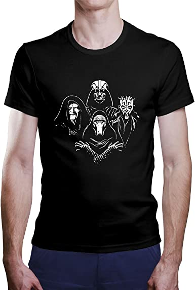Camiseta Star Wars. Una Camiseta de Hombre con los Malos de Star Wars. Camiseta Friki de Color Negra: Amazon.es: Ropa y accesorios
