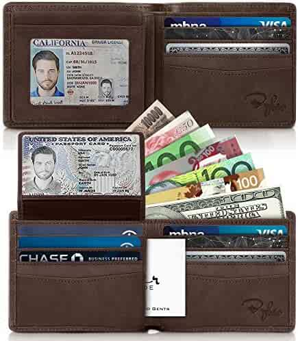 Bryker Hyde 2 ID Window RFID Wallet for Men, Executive Bifold Top Flip Wallet, Sleek and Stylish Gift for Men, Multi Card Extra Capacity Travel Wallet