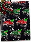 24'' X 100' #x6346 Deck The Halls - Gift Wrap Christmas