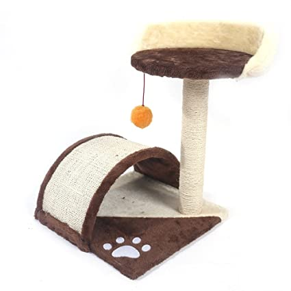 Home_Store Cat Tree Cat Condo Tower Large Beds Polyester Material, Feline-Friendly Soft Plush