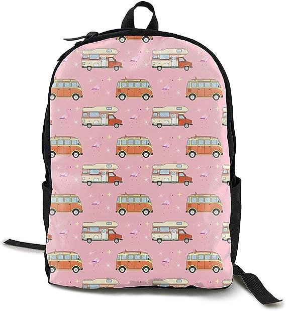 Flamingo Women Girls Backpack School Bags Travel Laptop Shoulder Rucksack Gift
