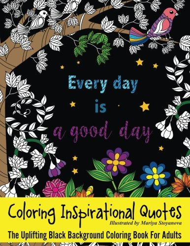 Coloring Inspirational Quotes Uplifting Background product image