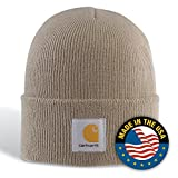 : Carhartt Men's Acrylic Watch Hat,Stone (Closeout),One Size