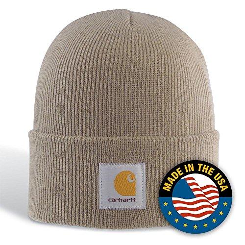 Acrylic Cap - Carhartt Men's Acrylic Watch Hat A18, Stone (Closeout), One Size
