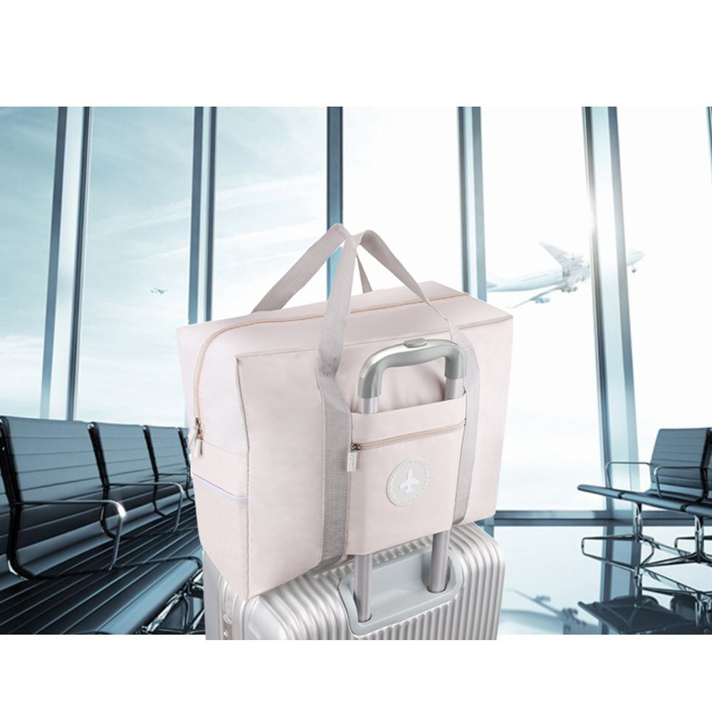 Foldable Travel Bag Waterproof Travel Tote Bag Foldable Bag Fully Lined with Gray Fabric (UPGRADE) by MuYiZi (Image #5)