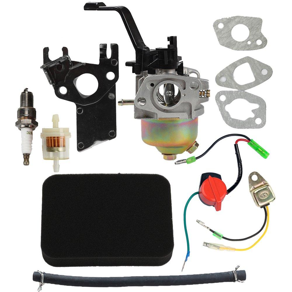 Hipa Carburetor With Air Filter Tune Up Kit For Honda Gx390 Charging System Wiring Gx120 Gx160 Gx200 168f 55hp 65hp 163cc 196cc Engine Generator Garden Outdoor