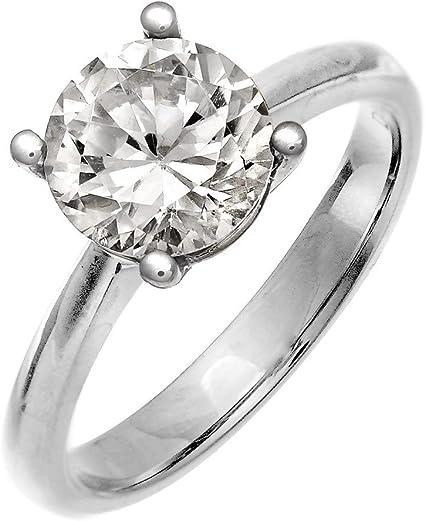anillo con diamante grande de hasta 2 quilates platino