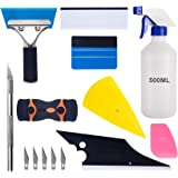 Luxiv Car Window Tint Application Tools Kit, 9 Pcs Vehicle Glass Protective Film Installing Tool Car Window Film Squeegee Aut