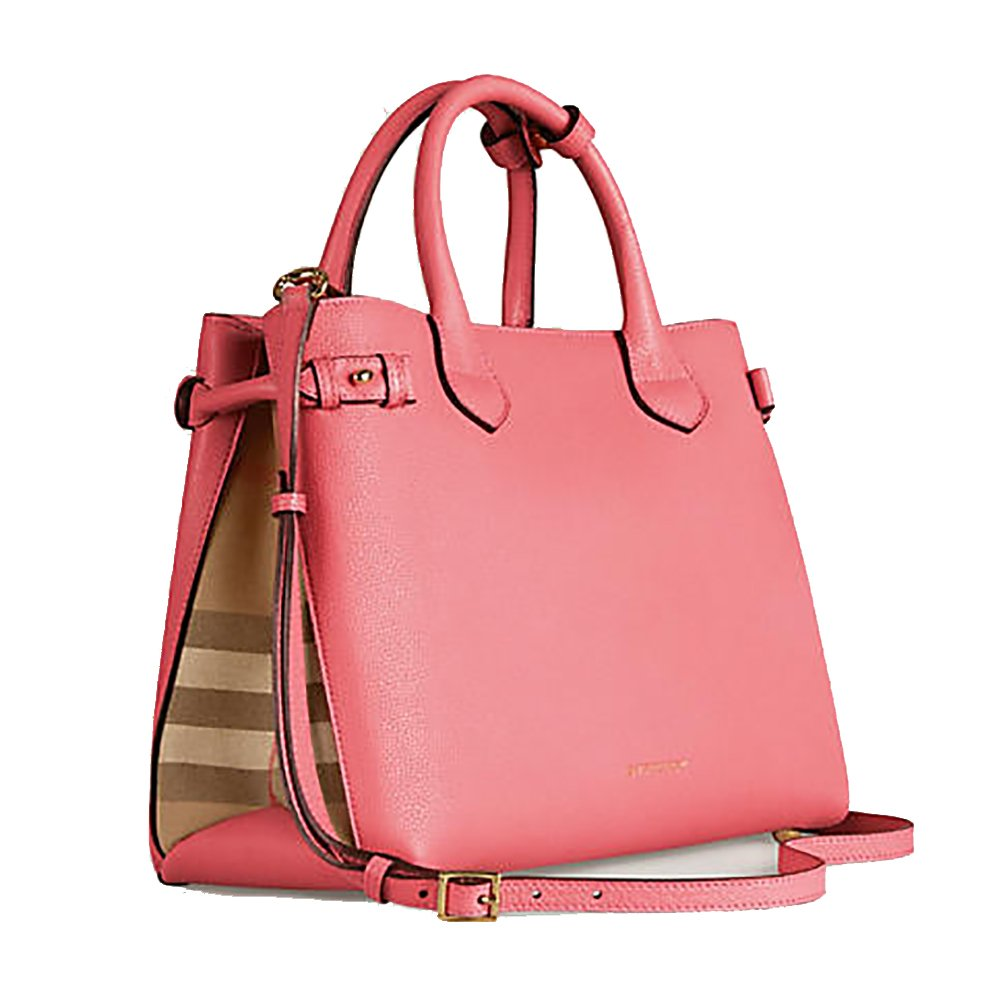 0e477036d994 Amazon.com  Tote Bag Handbag Authentic Burberry Medium Banner in Leather  and House Check MAUVE PINK Item 39818951  Shoes