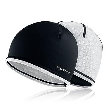 77b5b22116c Nike Run Beanie Womens Hat One Size Black White  Amazon.co.uk ...