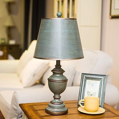 WENZHE estudio europeo sala de estar dormitorio país lámpara ...