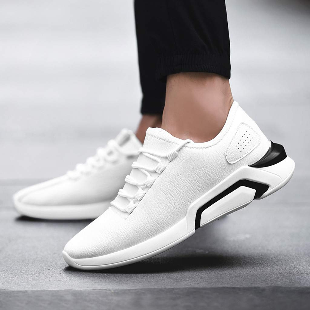 KESEELY Soft Bottom Men Sports Shoes Mesh Breathable Casual Sneakers Students Running Shoes