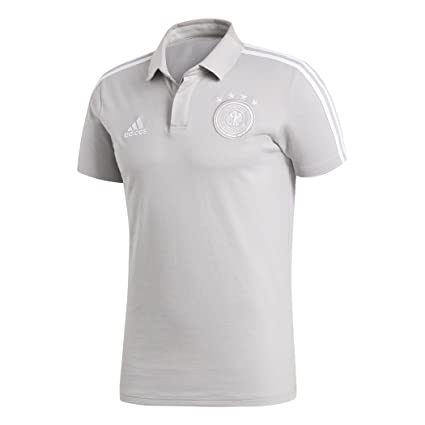 0b4482229892 Amazon.com: 2018-2019 Germany Adidas Cotton Polo Shirt (Grey ...