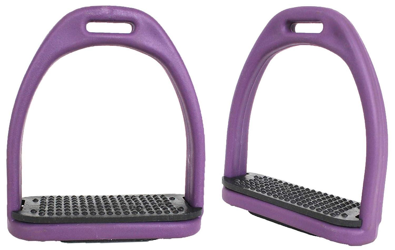 Horse Saddle English Composite Light Weight Stirrups 10cm - 1.9cm Wide Purple 51113PR   B01M4K47SD