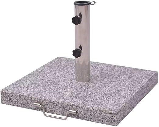 Tidyard Base de Sombrilla de Cuadrada,Soporte de Pie para Parasol Pesa 30kg,con Asa de Acero Inoxidable,48cm