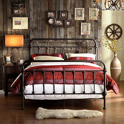 weston home nottingham metal spindle bed - Wrought Iron Bed Frame