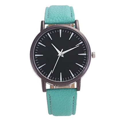 Jintime Relojes de Mujer, Relojes analógicos de Ocio Simple con Pulsera de Cuero, Reloj