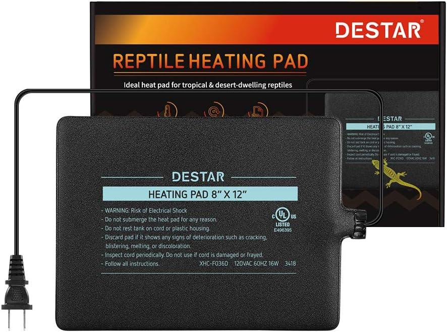 DEStar 104-122℉ Temperature Reptile Terrarium Heat Pad Under Tank Heater for Spider Snake Tarantula Hermit Crab Turtle 61kj4XSlUBL