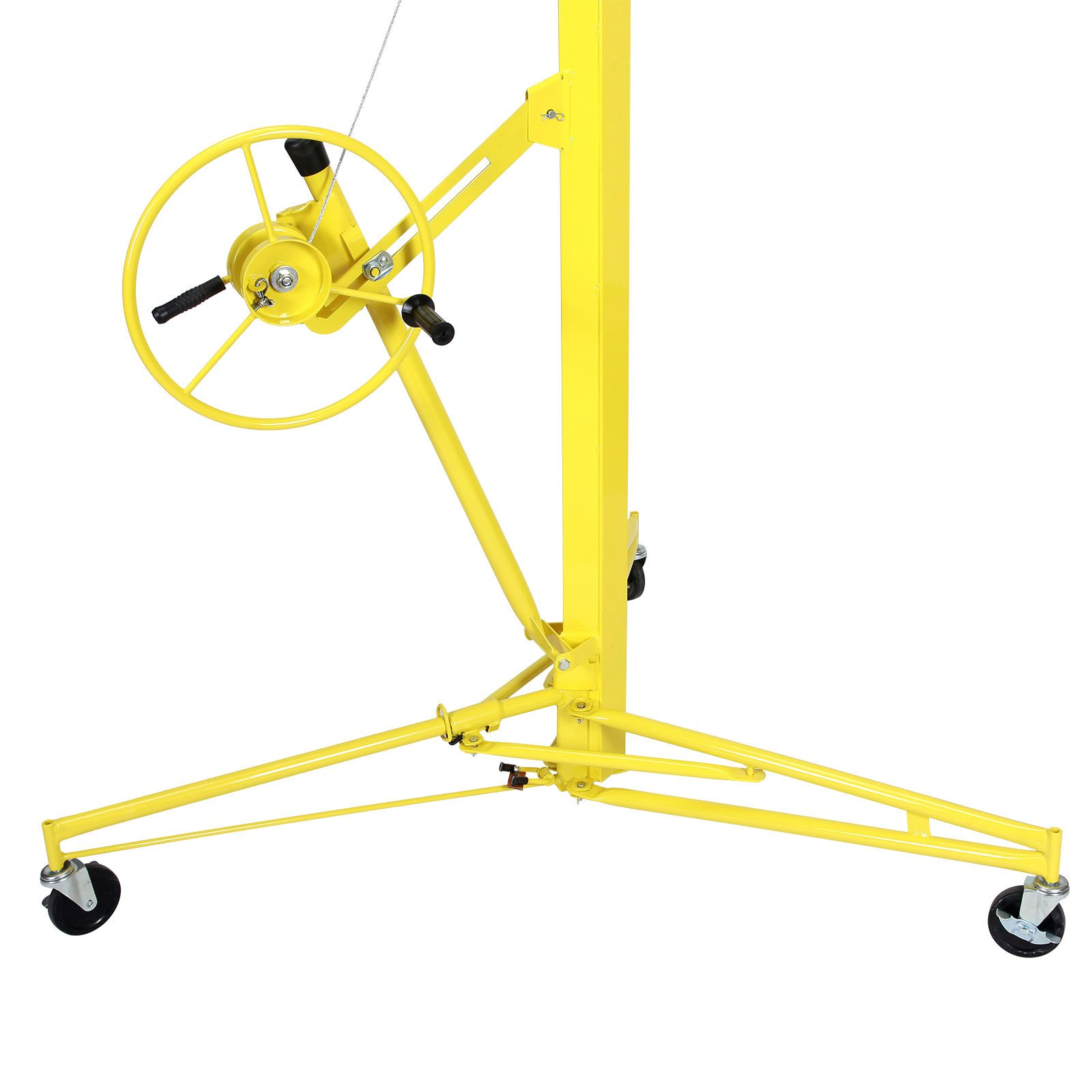 Idealchoiceproduct 16' Drywall Lift Rolling Panel Hoist Jack Lifter Construction Caster Wheels Lockable Tool Yellow by Idealchoiceproduct (Image #5)