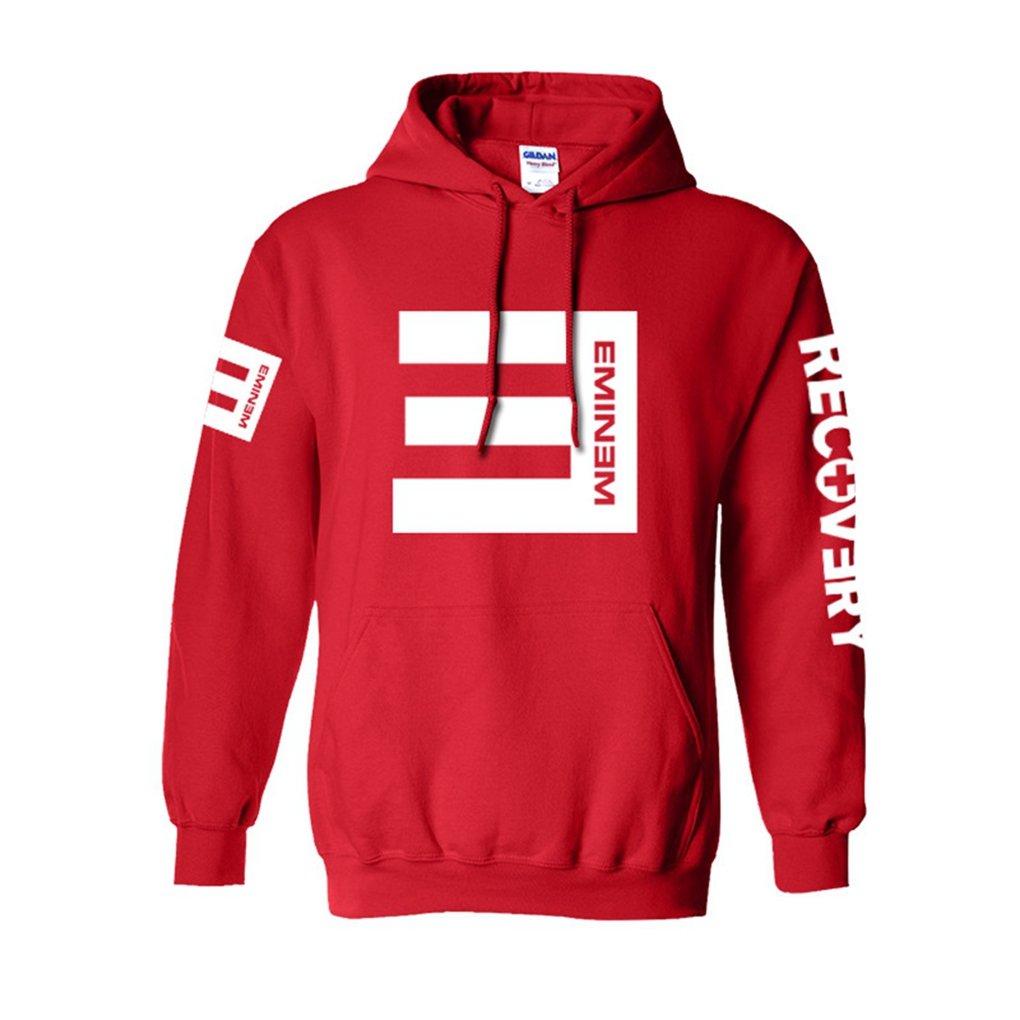 Cosdaddy / Eminem Hip Hop Sweater Hoodie Kapuzenpullover Schwarz Cosplay Kostü m US Size(S, Rot)