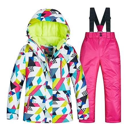 YyZCL Snowsuit Ski Jacket Pants Winter Children s Ski Suit Set Thick Warm  And Windproof Waterproof for 6f6ca1d33