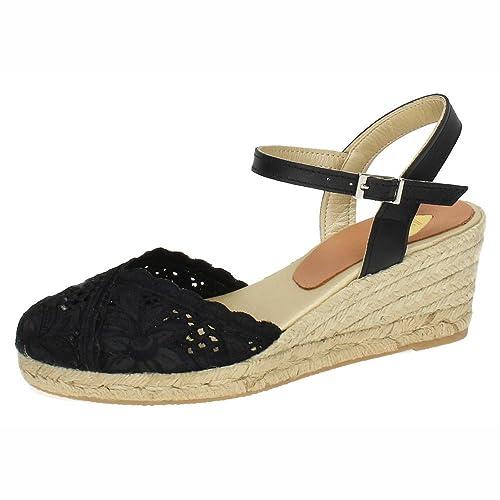 TORRES 5004 Zapatilla DE Encaje Mujer Alpargatas: Amazon.es: Zapatos y complementos