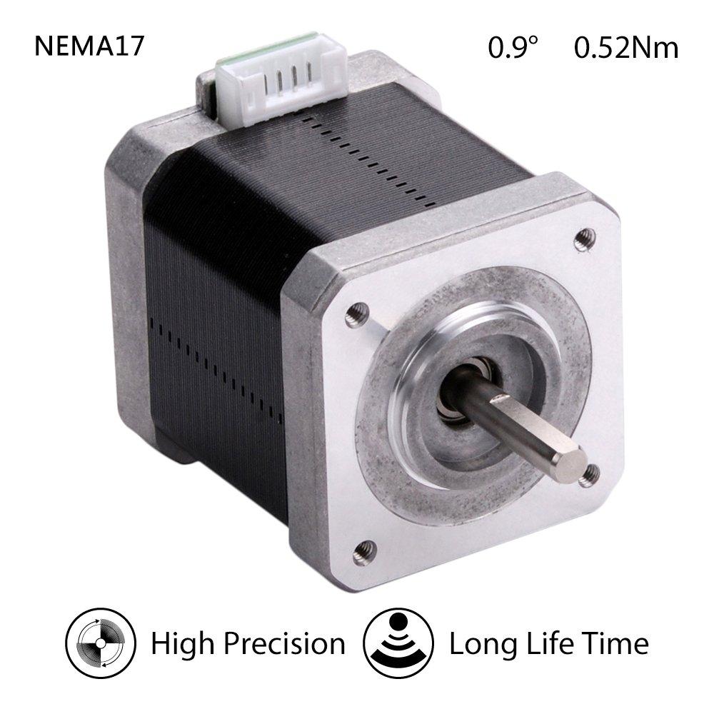 MOONS 0.9deg NEMA 17 Motor paso a paso 1.5A 0.52Nm 2Phase 48.3mm ...
