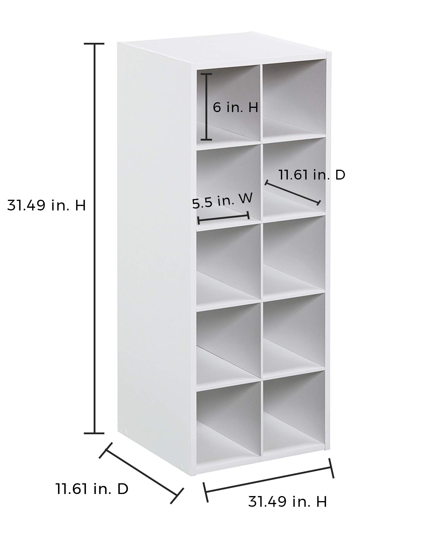 ClosetMaid 1545 Stackable 10-Cube Organizer, White by ClosetMaid (Image #3)