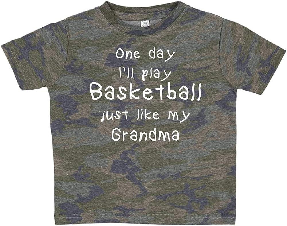 One Day Ill Play Basketball Just Like My Grandma Toddler//Kids Short Sleeve T-Shirt