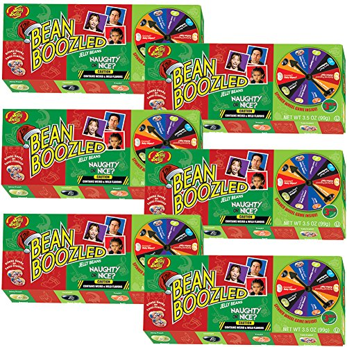 (Set/6) Jelly Belly Bean Boozled Naughty Or Nice Fun Christmas Spinner Game