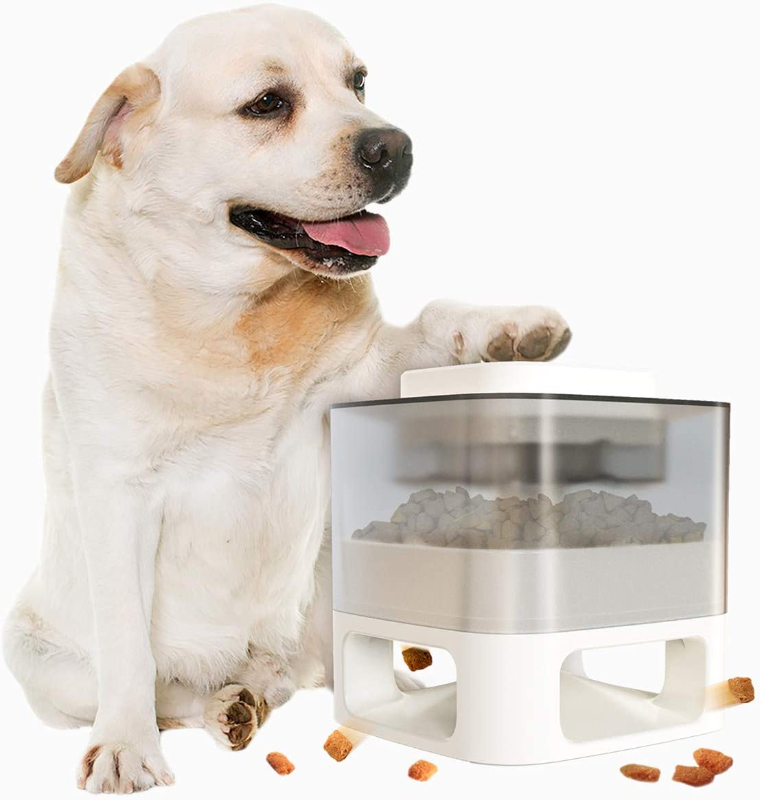 Sakiway Dog Automatic Feeder Treat Toys, Interactive Pet Slow Food Dispenser for Small Medium Large Dogs, No More Boredom and Obesity